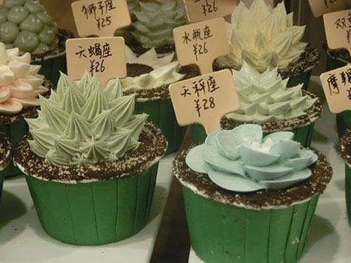 上海で人気の多肉植物を模したケーキ。「癒されたい」若者の間で、SNSによって瞬く間に拡散された