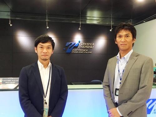 豊田通商エレクトロニクスタイランド(TTET)のプレジデント&CEO・伊藤秀哉氏(右)と人事総務部ゼネラルマネジャーの楠本浩史氏。