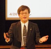 スウェーデンのストックホルム大学で行われたノーベル物理学賞の受賞記念講演