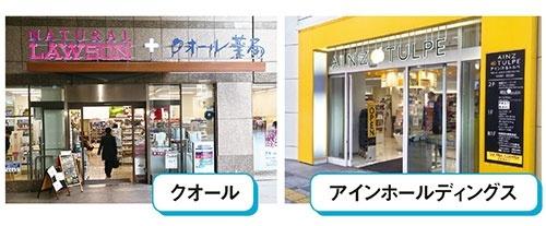 クオールはコンビニエンスストアの調剤併設店を30店に拡大(左)。アインホールディングスは若い女性向けのドラッグストアを事業の柱に(右)。(写真=左:陶山 勉)