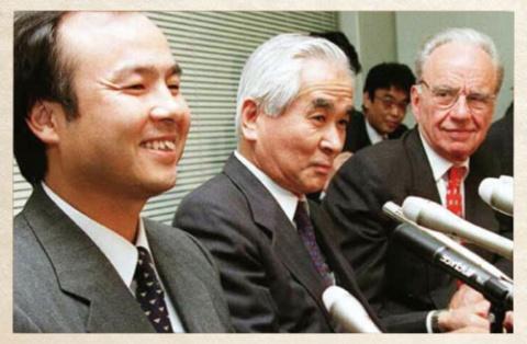 1996年<br />マードック氏と組み テレビ朝日株を取得