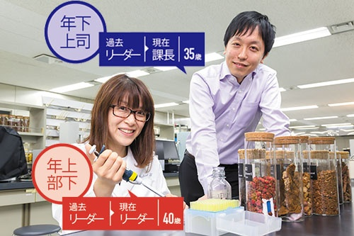 社内からも仕事の依頼が殺到するナリス化粧品の森田美穂氏。研究に没頭できるよう調整するのが井上課長の役割だ(写真=菅野 勝男)