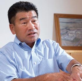 <b>山本社長は創業家出身ではなく、商社から転じて内部昇格で就任した</b>(写真=佐藤 久)