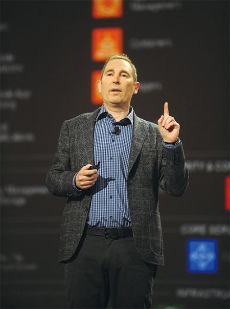 <b>米ラスベガスで開催された「re:Invent」に登壇したアマゾン・ウェブ・サービスのアンディ・ジャシーCEO</b>(写真=鍋島 明子)