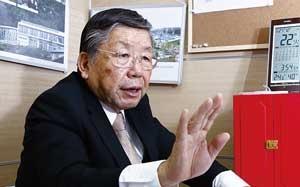 日本庭園について海外で講演するなど情報発信にも積極的な小杉左岐社長(写真=竹井 俊晴)
