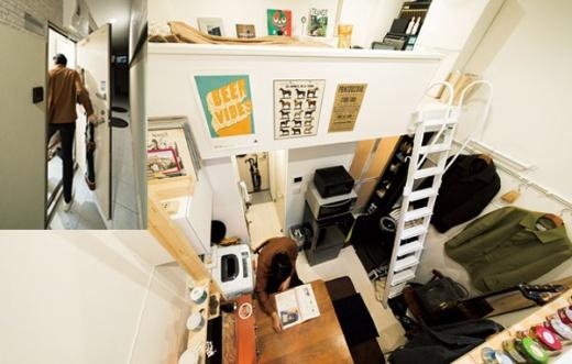 """<span class=""""title-b"""">「狭いが、不自由はない」</span><br />9m&sup2;の部屋で生活する桜井さんは「工夫すれば快適」と話す。都心に近い駅から徒歩5分で、新築6万円台という家賃も魅力だ"""