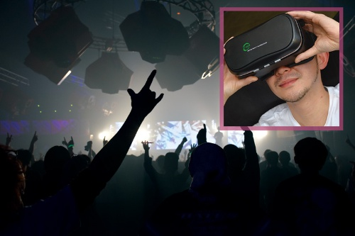 VRでコンサートを体験