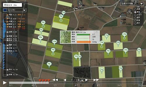 """<span class=""""fontBold"""">住友化学は、ドローン技術を持つスタートアップ、 ナイルワークスに資本参加し、稲作の生育調査や農薬散布の自動化を目指す。生育データを使い、田んぼごとに最適な農作業の時期も割り出す</span>(写真=尾苗 清)"""