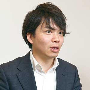 エンリッションの柿本優祐CEO(最高経営責任者)(写真=太田 未来子)