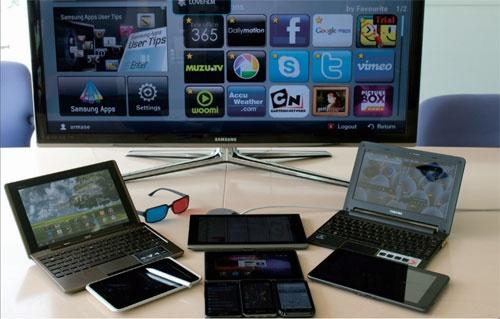 スマートフォン、タブレット、携帯型ゲーム機、薄型テレビ、自動車など様々な機器を、アームが設計した半導体が支えている