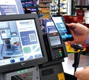 ウォルマートが開発したモバイル決済アプリ、ウォルマート・ペイ。様々な端末やカードで利用することができる