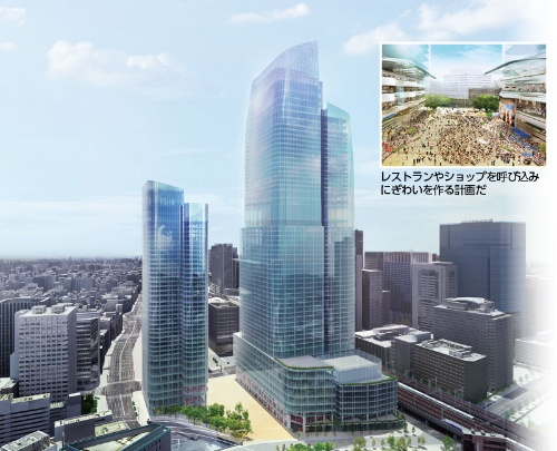 390mのビルを中心とする常磐橋街区再開発プロジェクトは2027年度に完成予定
