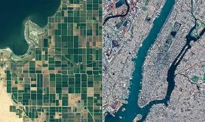 「ほどよし1号機」が撮影した画像。観測データは農業や都市開発への応用を想定している(写真:アクセルスペース提供)