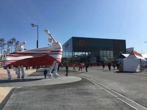 韓国の江陵オリンピックパーク内にあるアリババ集団のショーケース
