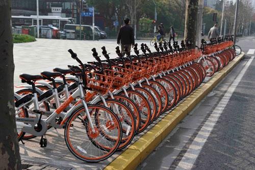 中国のシェア自転車大手の摩拜単車(モバイク)が日本に進出する(写真:町川 秀人)