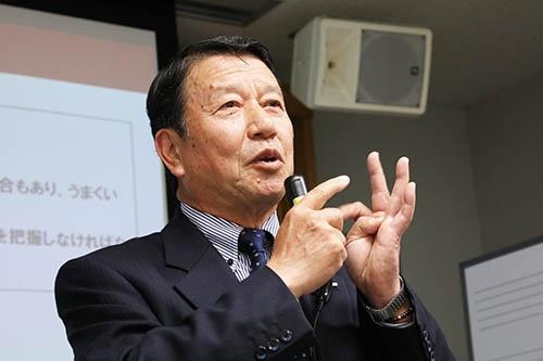 「大目標を決めたら、リーダーは常に同じことを言い続けなくてはなりません」 (写真:陶山勉)