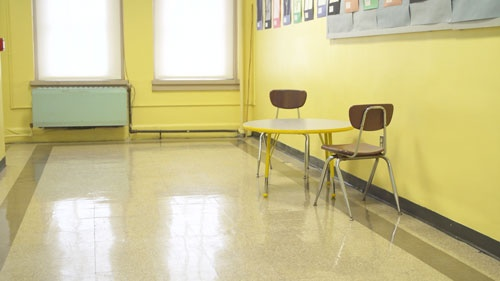 特別なケアが必要な子供のための教室もない(写真:Retsu Motoyoshi)