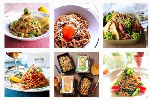 写真共有サイト「インスタグラム」の同社の公式アカウント(basefood_tokyo)でも、「BASE PASTA」の様々な食べ方を提案している