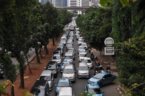 ジャカルタの道路は大渋滞だが…