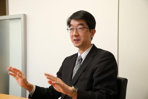 本田技術研究所 四輪R&Dセンター統合制御開発室の杉本洋一上席研究員(写真、陶山勉、以下同)