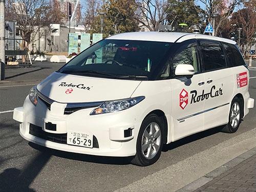 ZMPが2017年末に東京・お台場で行った自動運転車の走行実験