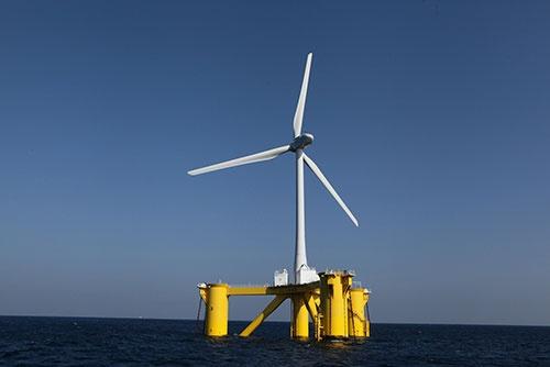 丸紅が中心となって産官学のコンソーシアムを結成し、福島県沖で洋上風力発電の実証実験を進めている(写真:福島洋上コンソーシアム)