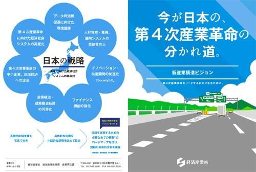 昨年、経産省が公表した「新産業構造ビジョン」中間整理のパンフレット