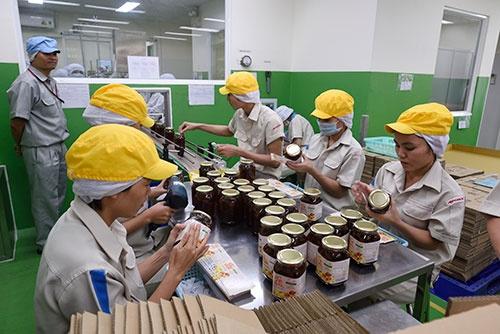 ビエンホア工場にある「うめちゃん」の製造ライン(写真:町川 秀人、以下同)