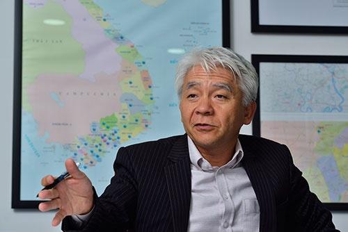 ベトナム味の素の本橋弘治社長は、「ベトナムは、まだ勝者が決まっていない。得意な部分は守り、不得意な部分は攻めていく」と話す