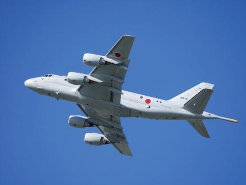 英航空ショーに出展された純国産哨戒機P-1(写真:PIXTA)