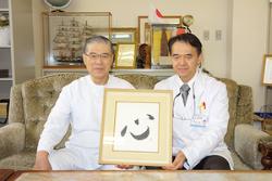 理事長の陣内富男氏(左)と陣内秀昭氏
