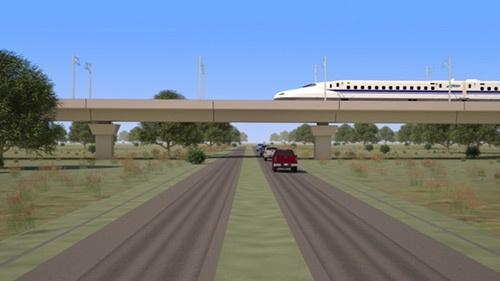 JR東海は米テキサス州で高速鉄道の整備計画を進める(イメージ画像)