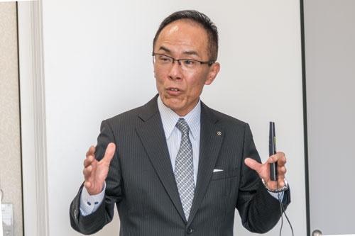 JR大分シティの関信介社長は、駅周辺の開発事業による手ごたえを感じているという(写真:山本巌)