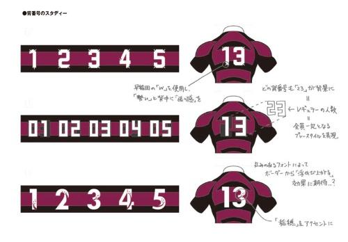 nendoが提案した背番号案。伝統やチームの思いを「背負う」象徴としてデザイン