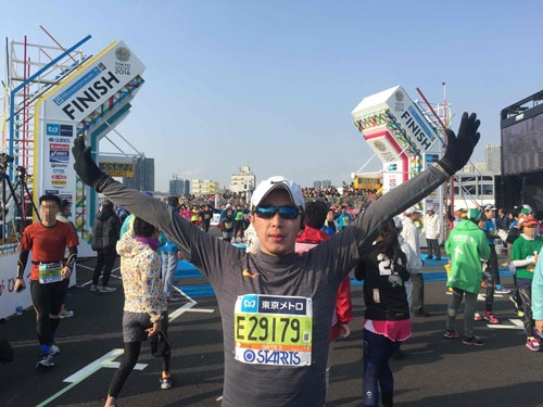 いろんなことを乗り越え、やっとゴール。これでフルマラソン歴は5回となった