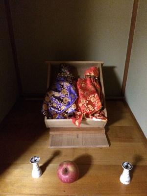松田の自宅に祀られていたオシラサマ