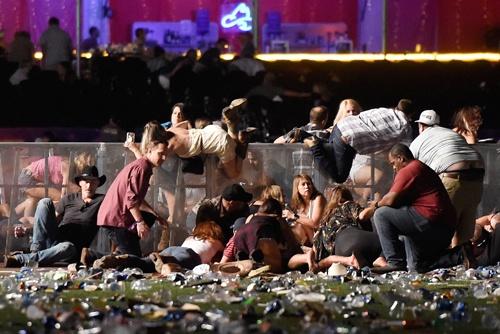 昨年10月には、ラスベガスで500人以上が負傷する銃乱射事件が起きた(写真:David Becker/Getty Images)