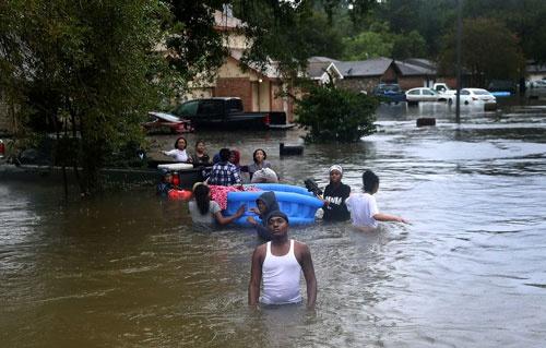 ハリケーン「ハービー」の対応では教会が大きな役割を担った(写真:Joe Raedle/Getty Images)