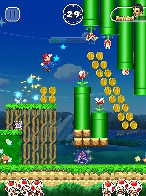 世界中のユーザーと1対1で競い合うキノピオラリー。(C)2016 Nintendo