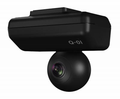 ユピテルの「marumie(マルミエ)Q-01」(実売価格6万円)は、全天球カメラを搭載し周囲の状況をすべて撮影できるドライブレコーダーだ。