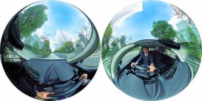 marumie(マルミエ)Q-01は、前方だけでなく車内や左右、後方など周囲をすべて撮影できる。あらゆる状況に対処しやすい。