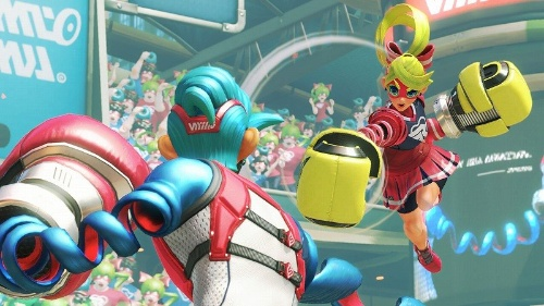 『ARMS』。伸びる手でパンチを繰り出し、相手を倒していく格闘ゲーム。2017年春発売(c)2017 Nintendo