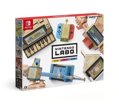 発表されたキットは2つ。「Nintendo Labo Toy-Con 01: Variety Kit」はリモコンカー、つり、おうち、バイク、ピアノが組み立てられる。価格は6980円 (C)2018 Nintendo