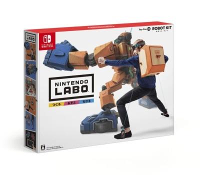 「Nintendo Labo Toy-Con 02: Robot Kit」はリュック型のコントローラーキットを作り、それを操作して体感ゲームを遊べる。価格は7980円 (C)2018 Nintendo