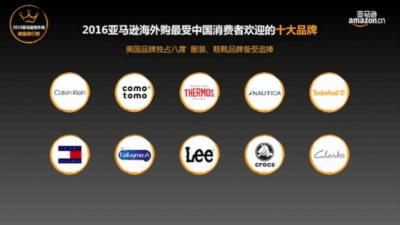 アマゾン中国の人気輸入品ブランドトップ10。