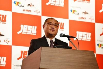 Gzブレイン社長を務める浜村弘一氏も、JeSUの理事の1人として登壇。JeSUのプロライセンスの内容などを具体的に説明した