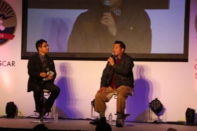 「CampingCar the Award」に選ばれた山口智充氏は トークショーに登場