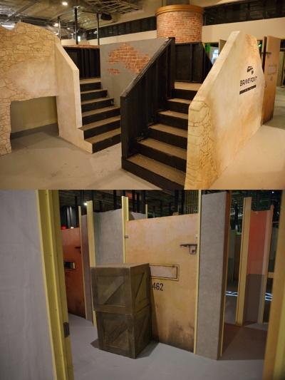 監獄をイメージしたBスタジオは遮蔽物のレイアウトを自由に変更することが可能なので、飽きずに遊ぶことができる