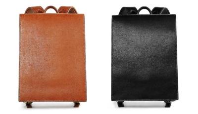 イタリアの高級皮革、バケッタ・ミリングレザーを使用した「OTONA RANDSEL 002」もラインアップ(税込み各10万円)