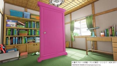 VRゴーグルをすると、こんな感じでのび太の部屋が見える。天井や窓の外の風景も作り込んである